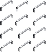 Menage Stainless Steel Drawer/Cabinet Handles (4-inch, Chrome Finish) (12)