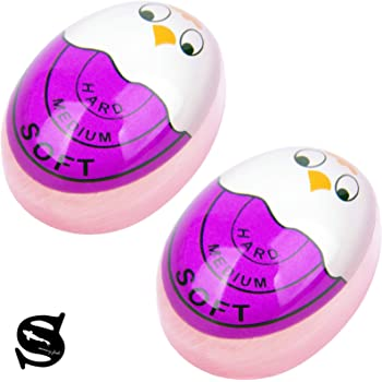 Egg Timer That Changes Color When Done Soft Hard Boiled Egg Timer Purple 2 Pack Bpa Free