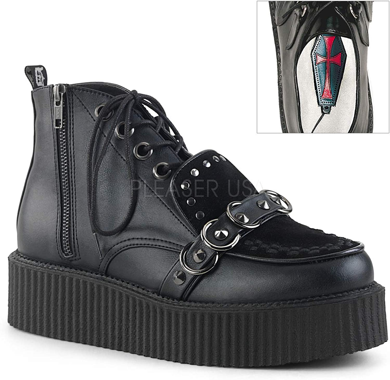 Demonia Mens V-CREEPER-555 BVL-VSUE shoes