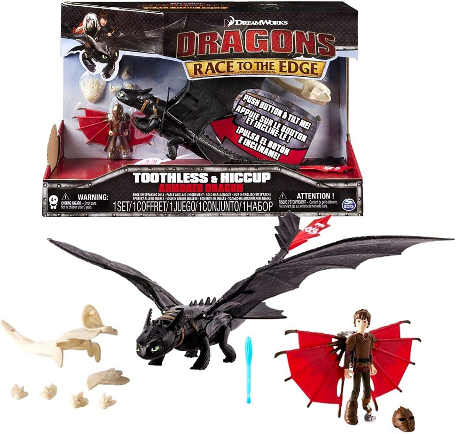 Dragons  Action Game Set  Armored Dragons Toothless with sound