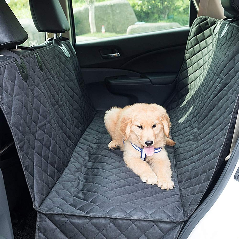Dog Seat Cover,Pet Dog Car Backseat Cover – Heavy Duty Hammock Cover,Full Car SUV PredectionDoors, Backseat & Floor  Waterproof, Nonslip