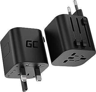 Green Cell GC TripCharge   Travel Adapter voor 150 landen - Power Adapter Plug voor UK/US/AU/EU - Universal World Travel P...