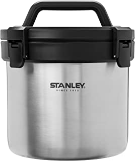 Stanley Adventure Stay Hot 3qt Camp Crock - Vacuum Insulated Stainless Steel Pot - Keeps Food Hot...