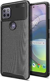 MOONCASE Case for Motorola Moto G 5G, Carbon Fiber Texture Design Back Cover Flexible Soft TPU Shockproof Slim Lightweight...