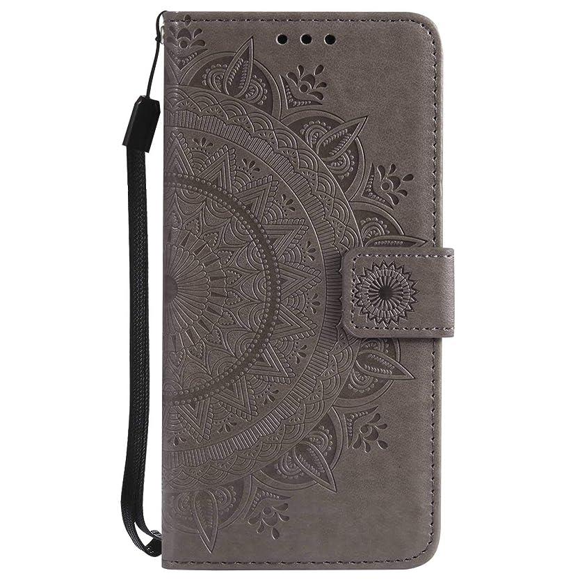 無条件奇跡バックアップSony Xperia XA1 ケース, CUSKING 手帳型 マグネット式 カード収納 スタンド機能 ストラップ 付き PUレザー 財布型 ライト 用 おしゃれ 保護ケース カバー Sony Xperia XA1 対応, グレー