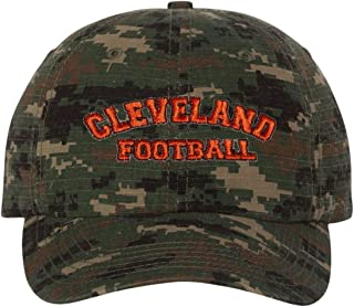 Go All Out Adult City of Cleveland Ohio Football Embroidered Dad Hat