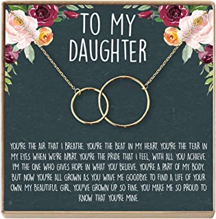 Daughter Necklace: Gift for Daughter, Daughter Jewelry, Mother Daughter, 2 Interlocking Circles
