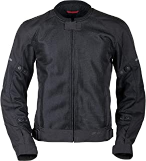 Pilot Motosport Men's Slate Air Mesh Motorcycle Jacket, BLACK, L Large