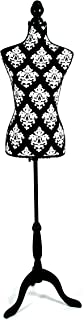 CLARIE Mannequin Buste féminin, Coton, Blanc et Noir, 83x 37.5x 24cm