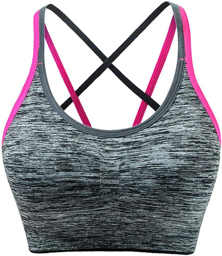 Womens Seamless Comfortable Sports Bra with Removable Pads Alalaso