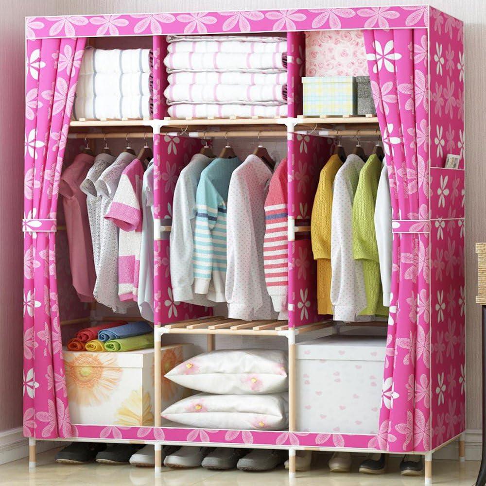 Generic Simple Super Large Wardrobe Oxford Wooden Cloth C Elegant Max 87% OFF Triple