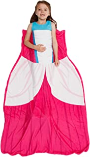 Silver Lilly Princess Dress Blanket - Girl's Dress Up Costume Fleece Sleeping Bag Blanket (Pink)