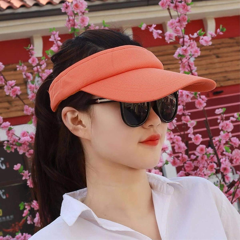 Beach Hat Hat Female Summer Empty top hat Sun hat Cap Great for Outdoor Sports Visor Cap Beach Cap a Cap Summer Sun Hat (color   The orange)