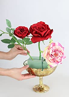 Accent Desiray Gold Vintage Mercury Glass Pedestal Bowl - 8