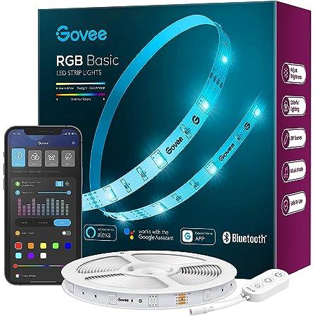 Govee Tira LED WiFi 5m, Alexa Luces LED Habitacion Inteligente RGB, Control con App, Alexa y Google Assistant, 64 Modos de Escena y Sincronización de Música para PC Gaming, Techo y Fiesta
