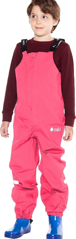 OAKI Kids Waterproof Suspender Regular store Rain Bib Windpr Pant Lightweight Genuine Free Shipping