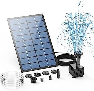 AISITIN Solar Springbrunnen 2.5W DIY Solar Teichpumpe 2021 Upgrade mit 1.2 m Wasserleitung Solarbrunnen mit 6 Fontänenstil...