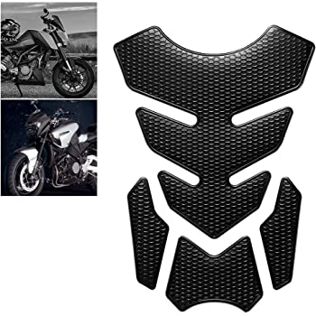 Non Genuine Fuel Tank Adhesive Protector Black//White Fits Motorcycles