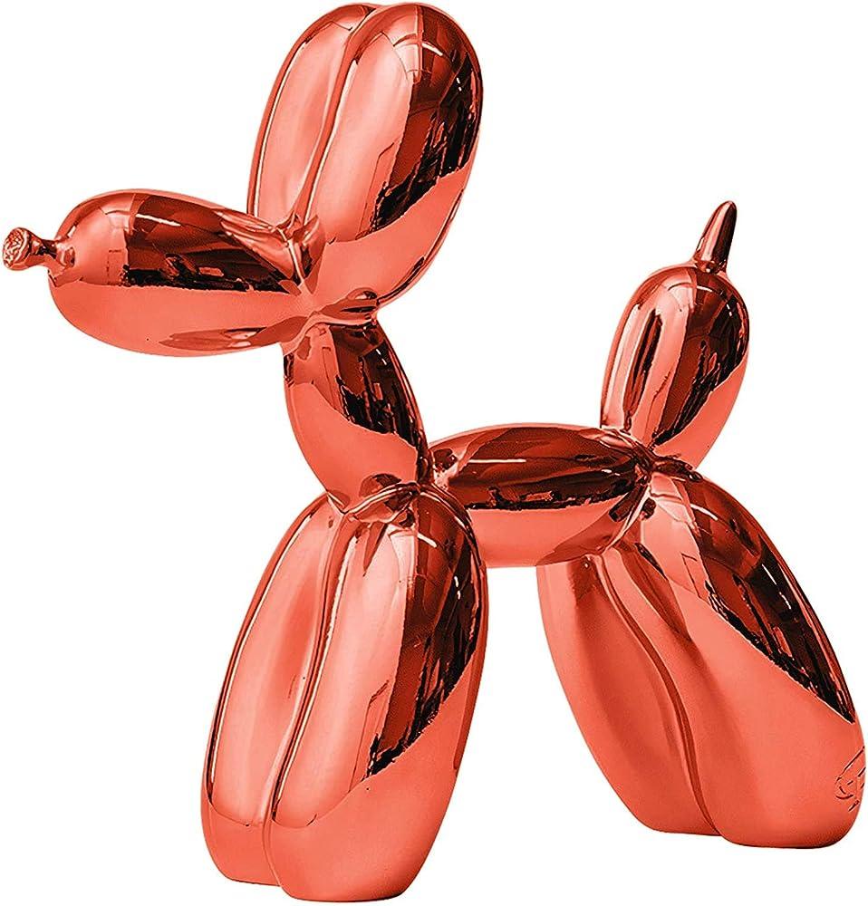 Ctp, statua a forma di cane a palloncino, in resina, rosso 9960054584141