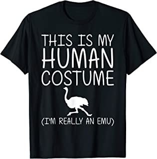 Emu Easy Halloween Human Costume Ostrich Bird Rhea DIY Gift T-Shirt