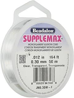 "Beadalon Supplemax 0.30 mm (0.012"") Nylon Bead Stringing Material, 50 m (164 ft),.."