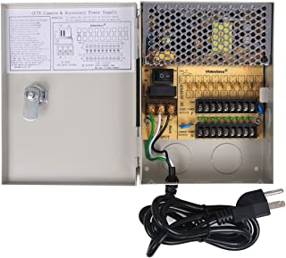 VideoSecu Key Lock 9 Output 12 V DC CCTV Distributed Power Supply Box Auto Reset for..