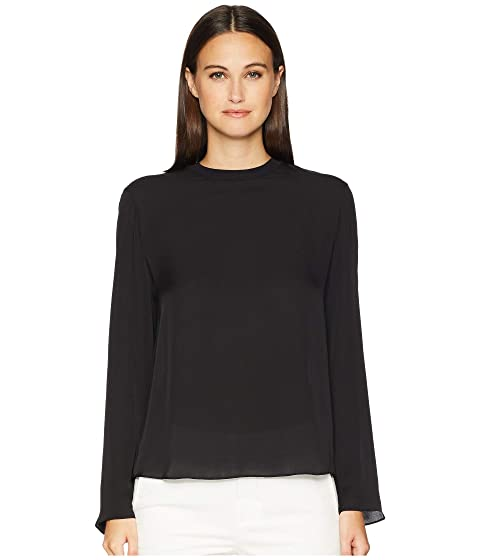 0d1218850c89a3 Vince Rib Trim Blouse at Luxury.Zappos.com