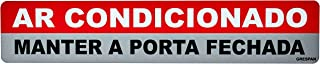 Placa De Sinalizacao Ar.Condicionado/Manter Porta Fechada 5x25 - Pacote com 5, Grespan, SIN33, Multicolorido