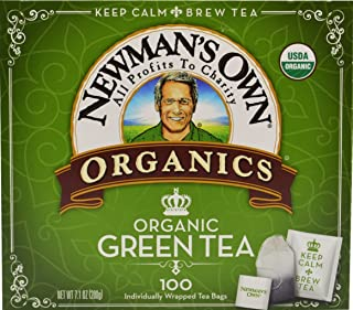 Newman's OwnOrganics Royal Tea, Organic Green Tea, 100-Count Individually Wrapped Tea Bags (Pack of 5). Packaging May Vary.