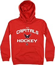 Washington Capitals Red Prime Basic Pullover Youth Fleece Hoodie (Large 14/16)
