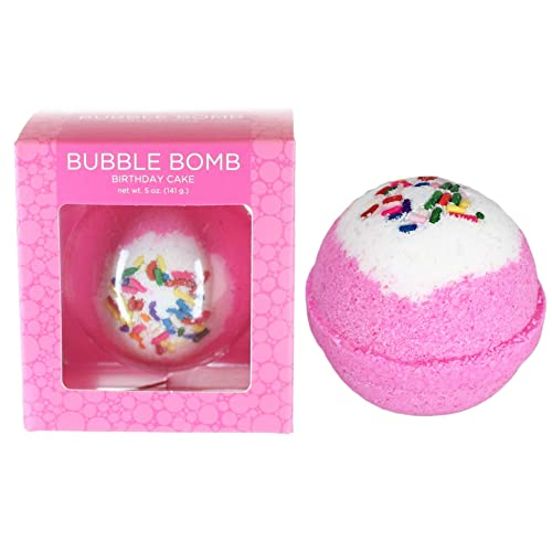 Birthday Cake BUBBLE Bath Bomb In Gift Box USA Made Large Lush Spa Fizzy Handmade