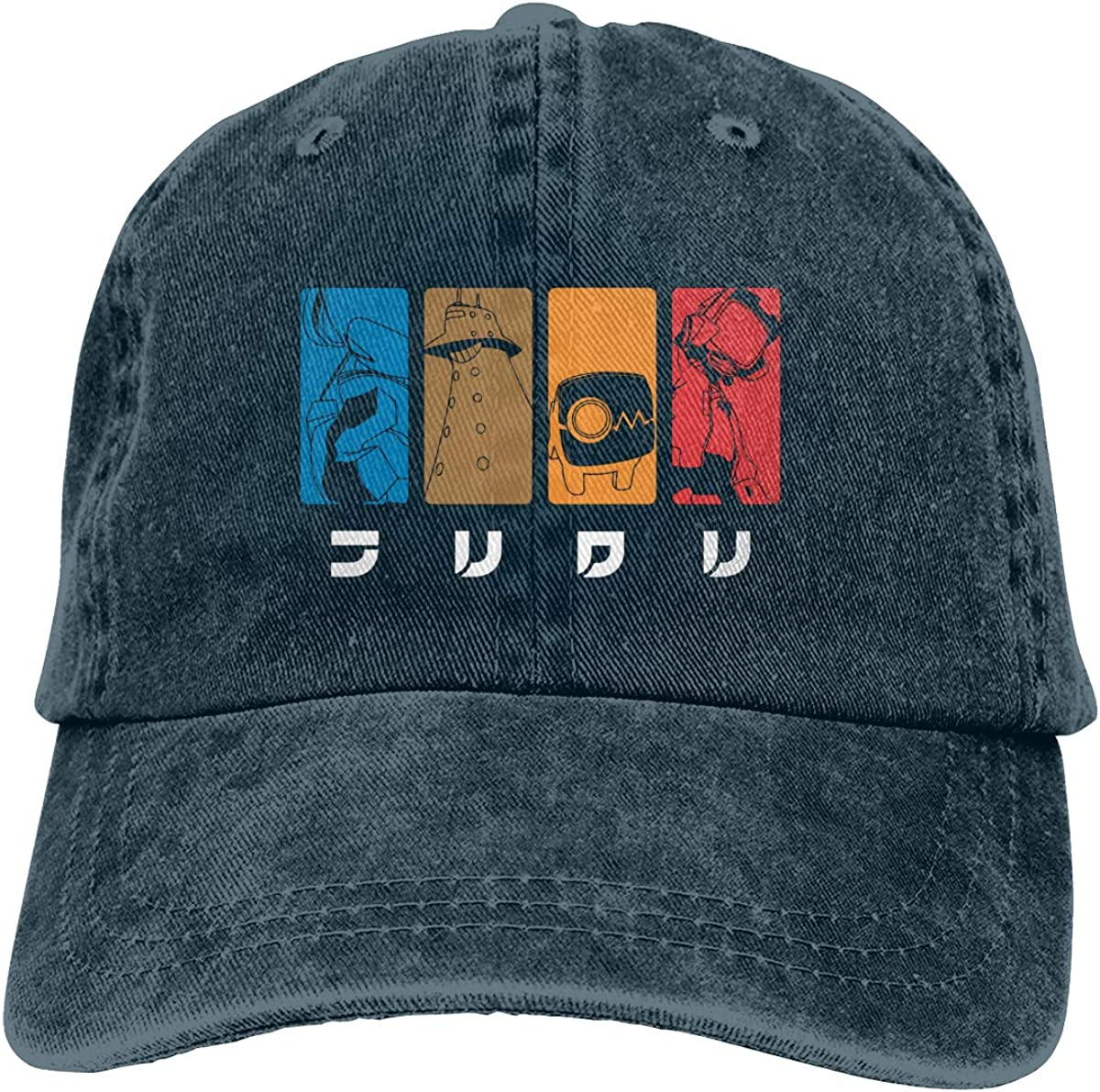 BKOGAL Unisex Adult Adjustable Cotton Denim Baseball Cap Anime The FLCL Snapback Hat