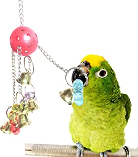 RYPET Bird Bell Toy,  Bellpull Bird Toy Parrot Cage Toys Cages African Grey Conure Cockatiel