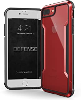 X-Doria iPhone 8 Plus, iPhone 7 Plus, iPhone 6 Plus Case, Defense Shield - Military Grade Drop Tested, Anodized Aluminum, TPU, Polycarbonate Protective Case for Apple iPhone 8,7,6 Plus (Red)
