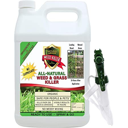 Natural Armor Weed and Grass Killer All-Natural Concentrated Formula. Contains No Glyphosate (128 OZ. Gallon)