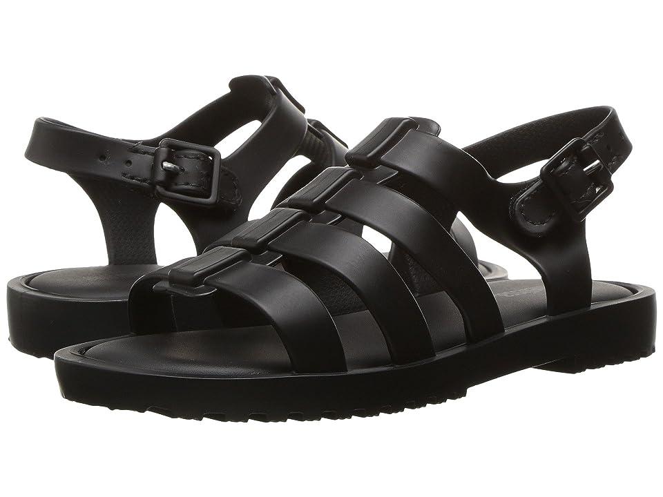 Mini Melissa Flox (Toddler) (Dark Black) Girls Shoes