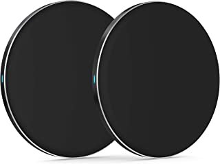 Wireless Charger 5W (2 Pack) by TalkWorks | Qi Certified Wireless Charging Pad (No Wall Adapter) for Apple iPhone 11, 11 P...