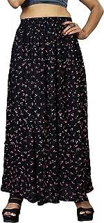 Exotic India Plain Wrap-Around Maxi Satin Skirt