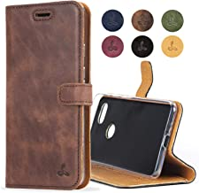 Snakehive Google Pixel 3 Case, Luxury Genuine Leather Wallet with Viewing Stand and Card Slots, Flip Cover Gift Boxed and Handmade in Europe for Google Pixel 3 - (Brown)