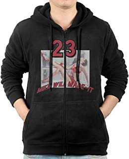 Mike Will Made-It Feat Mens Zip Up Pocket Fashion Sweatshirts