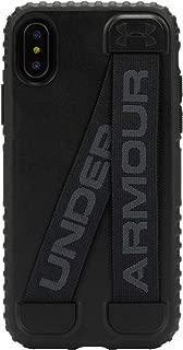 Under Armour 安德玛手机壳 | 适用于苹果 iPhone Xs 和 iPhone X | Under Armour UA 保护套采用坚固的设计和防摔保护 - 黑色/隐形