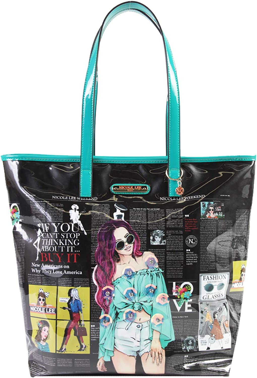 Fashion Graphic Shopper Handbag With Large Compartment