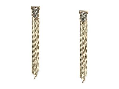 AllSaints Pave Fringe Linear Earrings (Black Diamond) Earring