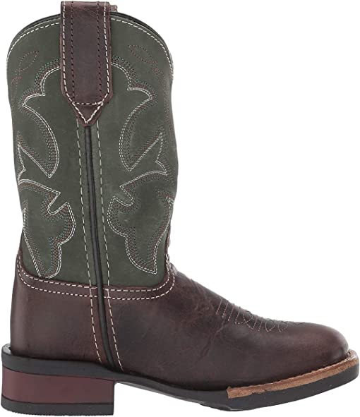 Brown Leather Vamp/Green Shaft