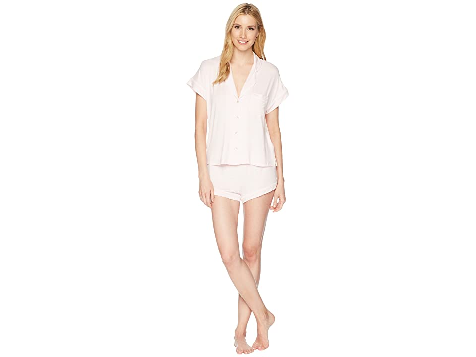UGG Amelia Knit Pajama Set (Seashell Pink/White) Women