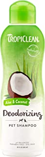 TropiClean Aloe & Coconut Deodorizing Shampoo for Pets, 20oz - Helps Effectively Eliminate Dog and Cat Odors, Made in the USA