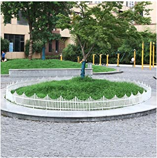 ZHANWEI Garden Fence Picket Fencing White Lawn Borders Edging Decor PVC Indoor Outdoor Flower Bed Animal Barrier, 3 Sizes ...