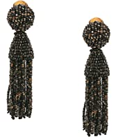 Oscar de la Renta - Short Beaded Tassel C Earrings
