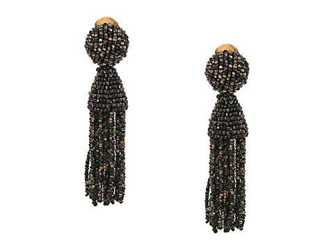 Oscar de la Renta Short Beaded Tassel C Earrings