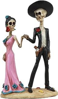 Ebros Day of The Dead Latin Tango Skeleton Couple Dancing Statue 5.75